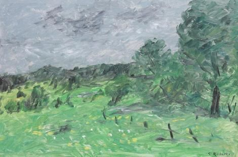 Goodridge Roberts, Laurentian Meadow Under a Grey Sky on ArtStack #goodridge-roberts #art