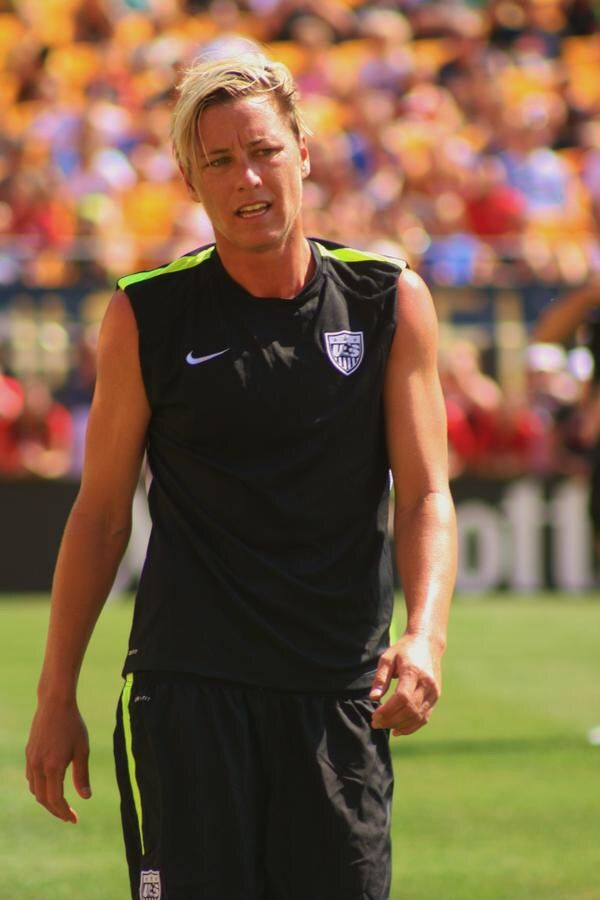Abby Wambach practices the day before taking on Costa Rica In a friendly match for USWNT victory tour, in Pittsburgh. (August, 15, 2015)