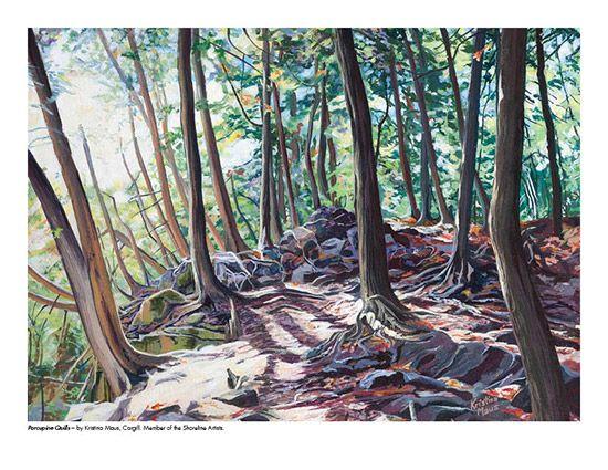 2015 Landscape Calendar | The Art Map Porcupine Quills by Kristina Maus - September