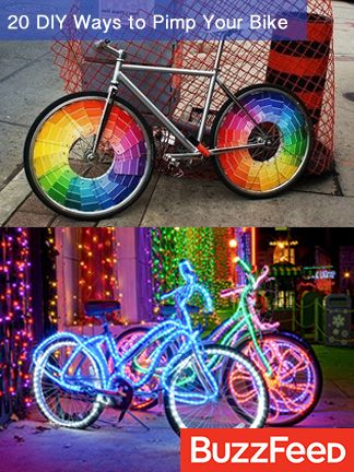 """If your bike is your best friend, give it some TLC. See all """"20 DIY Ways To Pimp Your Bike"""" on BuzzFeed!"""