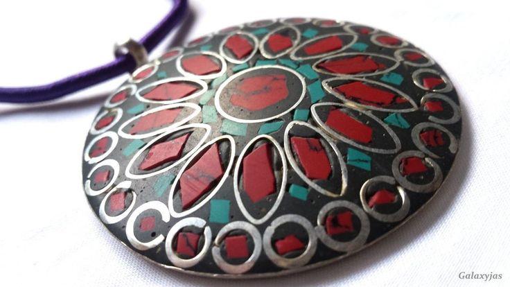 Indian beautiful custom rainbow pendant,round shape,handmade item #Unbranded