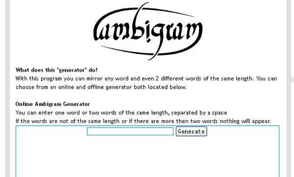 ambigram generator trulyscience 5