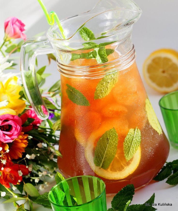 Smaczna Pyza: Ice Tea. Orzeźwienie. Mrożona herbata z cytryną i miętą.