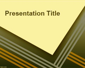 PhD PowerPoint template with diagonal corner image