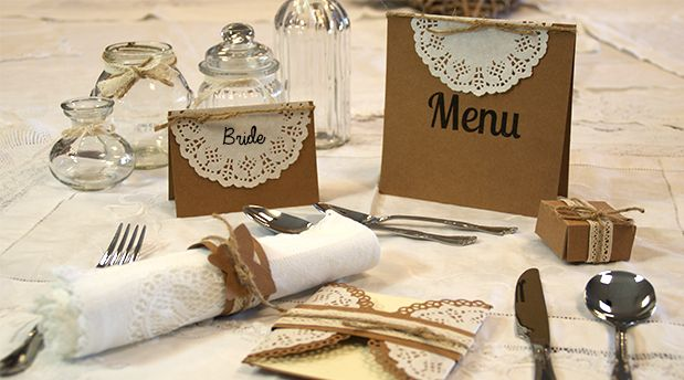 DIY Wedding Craft tutorials, tips & inspiration for Brides with the Kraft Card Trend