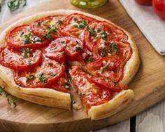 Tarte tomates, moutarde et herbes de Provence pour dîner familial…