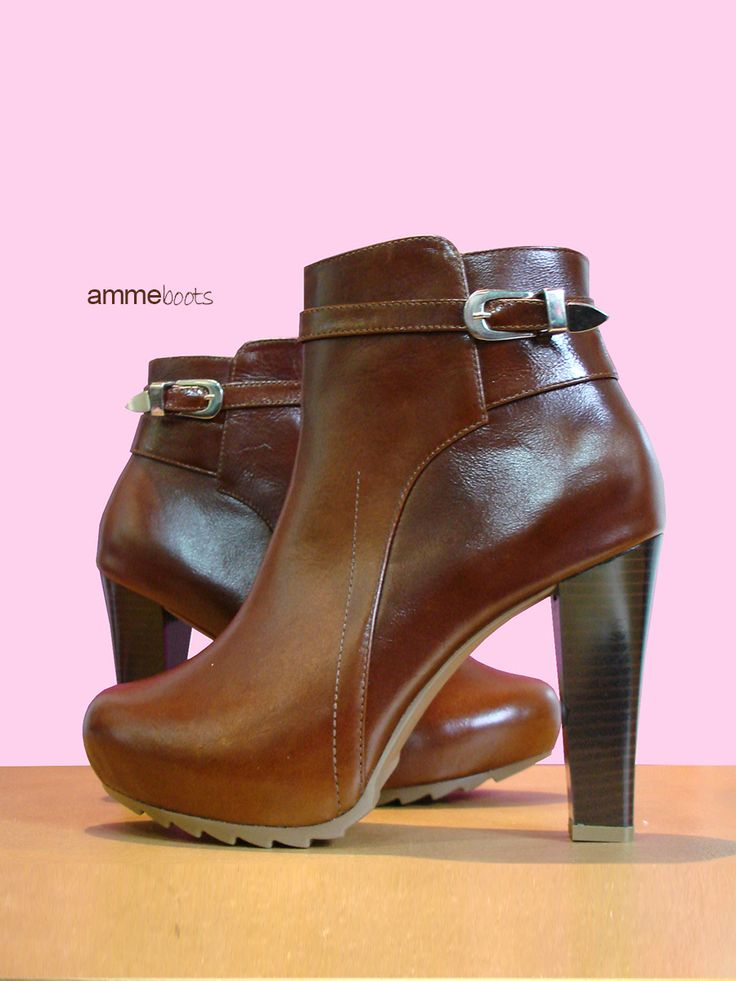 Coffee Boots 100% cuero www.amme.com.co
