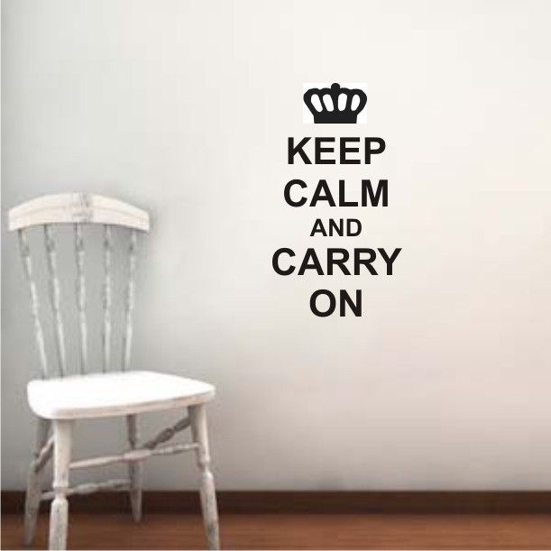 """Sometimes positive thoughts and wise words help us through situations. """"Keep calm and carry on"""" wall decal for your home – http://bit.ly/29eWH2z #fromtheheartemporium"""