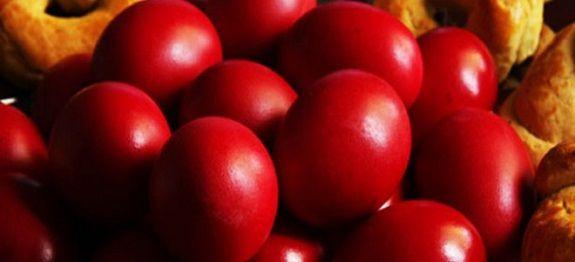 Πασχαλινά αυγά με βαφή από κρεμμύδια