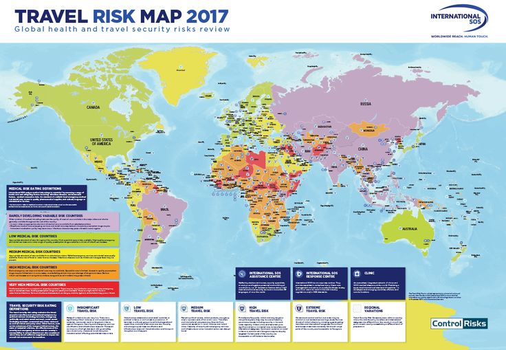 Travel risk map 2017 by InternaionalSOS #map #world #travel