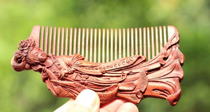 Классический Ручной Работы, резные деревянные расчески, Анти выпадение волос персик дерево гребень Уход За Волосами инструмент щетка для волос подарки для валентина женский день купить на AliExpress