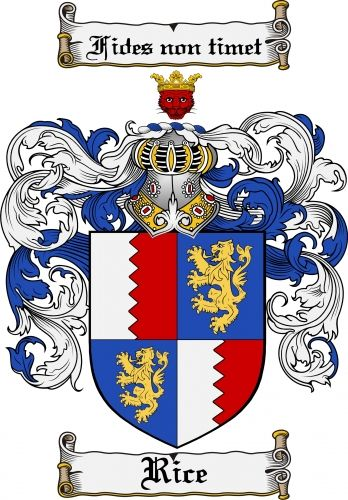 Rice Coat of Arms Rice Family Crest Instant Download - for sale, $7.99 at Scubbly #craft #kit #diy #family #crest #geneaolgy #geneology #crafts #scrapbook