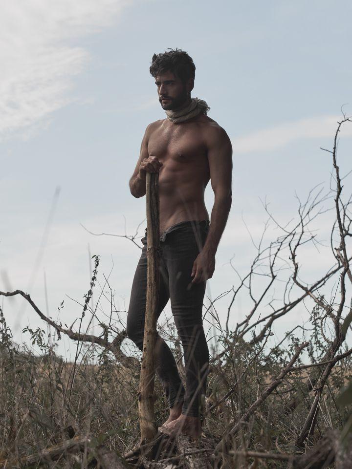 Piotr Czaykowski by Mateusz Tyszkiewicz  #fashion #man #photography #portrait #editorial #maneditorial #jeans #ass #body #muscles #field #tree #back #face #polish #poland