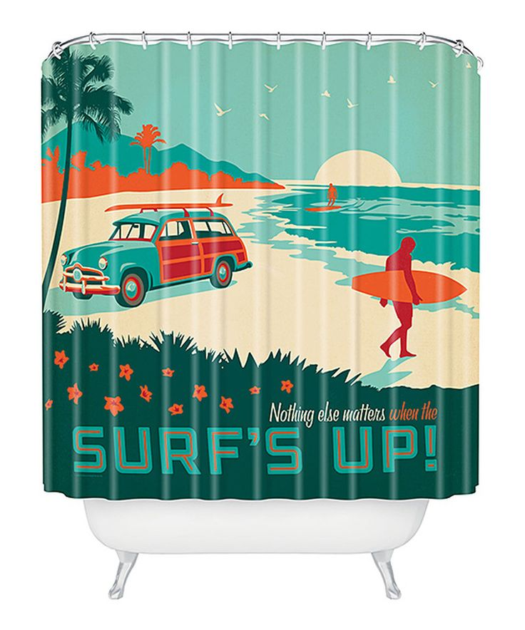 This U0027Surfs Upu0027 Shower Curtain By DENY Designs Is Perfect! #zulilyfinds
