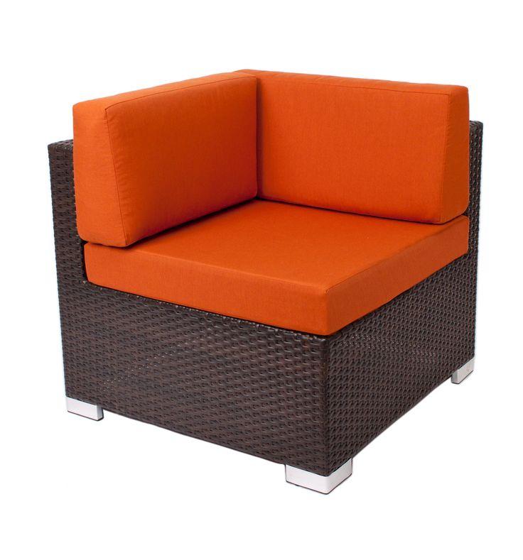 """Aruba"" lounge furniture #corner #RestaurantFurniture #restaurant #hospitality #sofa #ModularFurniture #LoungeFurniture #OutdoorFurniture #design #wicker #aluminum #outdoor"