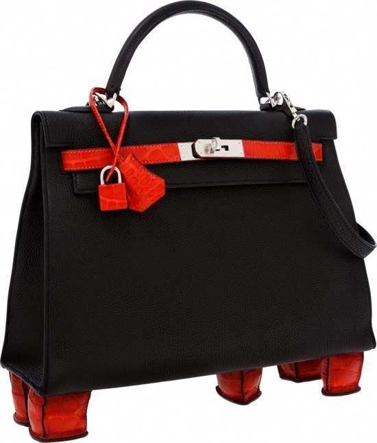 5b0633e71260 Hermès Kelly handbag  Geranium Porosus  fetches record price at auction   125