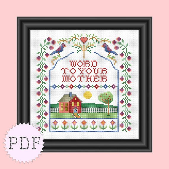 PDF Cross Stitch Sampler Funny  INSTANT by DisorderlyStitches, $6.50
