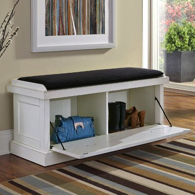 Features:  -Ultra-suede removable and reversible cushion with microfiber cover.  -Sanded and distressed finish.  -Antiqued brushed nickel hardware.  -Gouldsboro Collection.  -Drop-down cabinet with tw