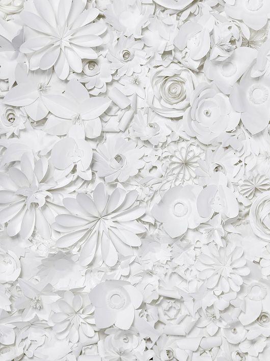 White flower paper art
