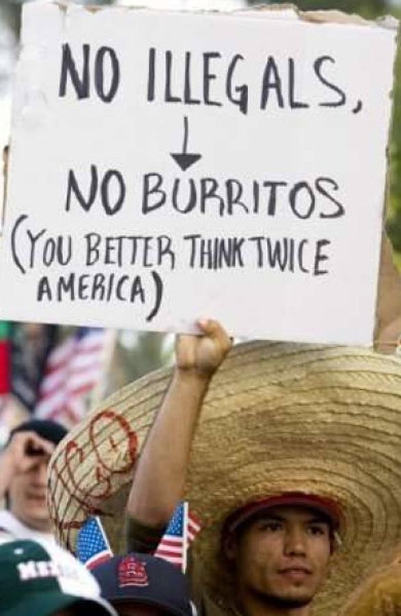 Burritos.  I guess only I can joke about it, lol.