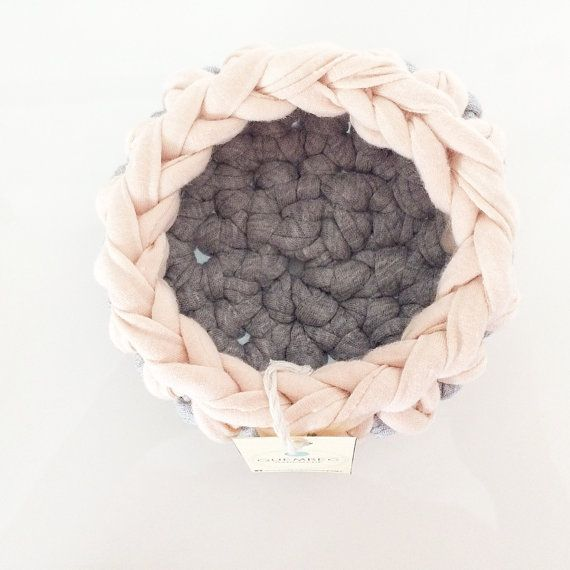 Set of 3 mini baskets handmade crochet PASTELOVE by Quembec