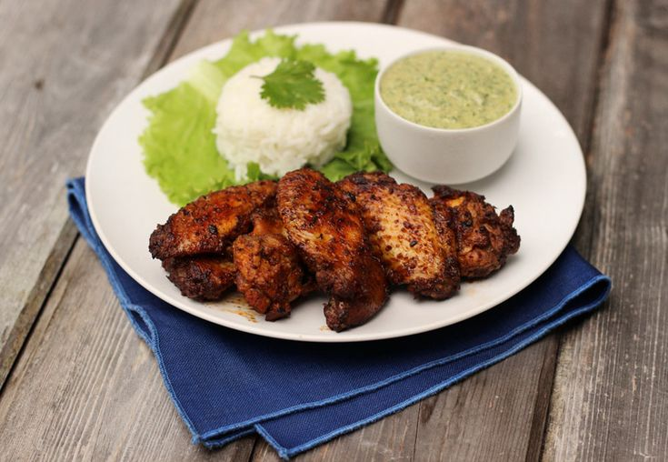 Smoked Chicken Wings with Creamy Cilantro Dip | Recipe