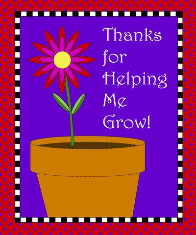 Free Printable – Teacher Gift Tag for Plant