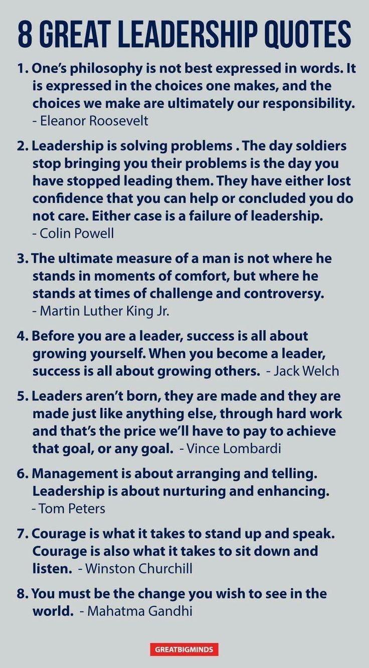 Great Sayings: 8 Great Leadership Quotes
