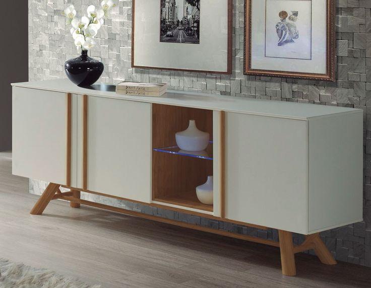 Buffet scandinave blanc laqué et pin OTRA | Meubles de style ...