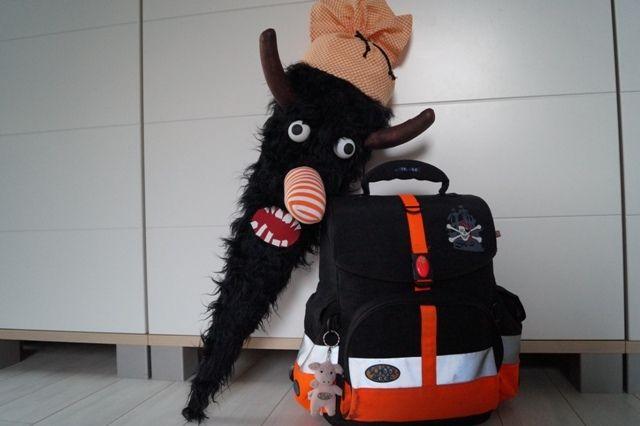 Schultüten - Schultüte*Monstermäßig*  schwarz & orange - ein Designerstück von Elfen-und-Piraten bei DaWanda