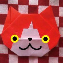 How to origami   jibanyan  おりがみ de ジバニャン |こむら*綾のブログ|Ameba (アメーバ)