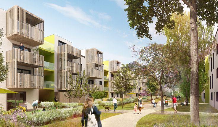 Idea facade 58 logements bbc - résidence pour personnes âgées, stutzheim - offenheim (67), Patrick SCHWEITZER & Associés -