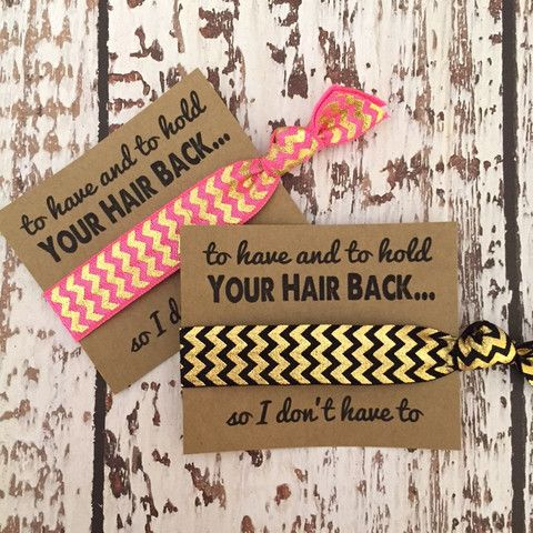 Bachelorette Party Favors - To Have and To Hold/So I Don't Have To – Elastic Hair Bandz & EHB Supplies