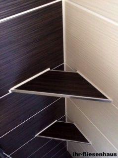 Offene Eckablage für Dusche u Bad befliesbar für alle gängigen Fliesen Edelstahl