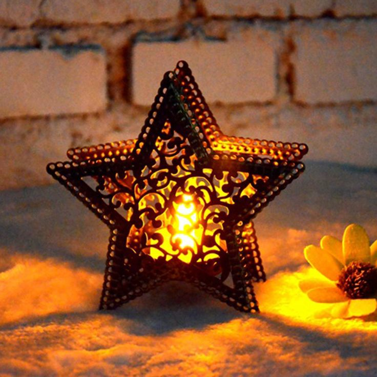 Christmas Star Candle Holder //Price: $9.95 & FREE Shipping //     #chichousedecor
