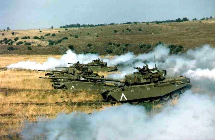 Israeli Centurion Sho't tanks during training