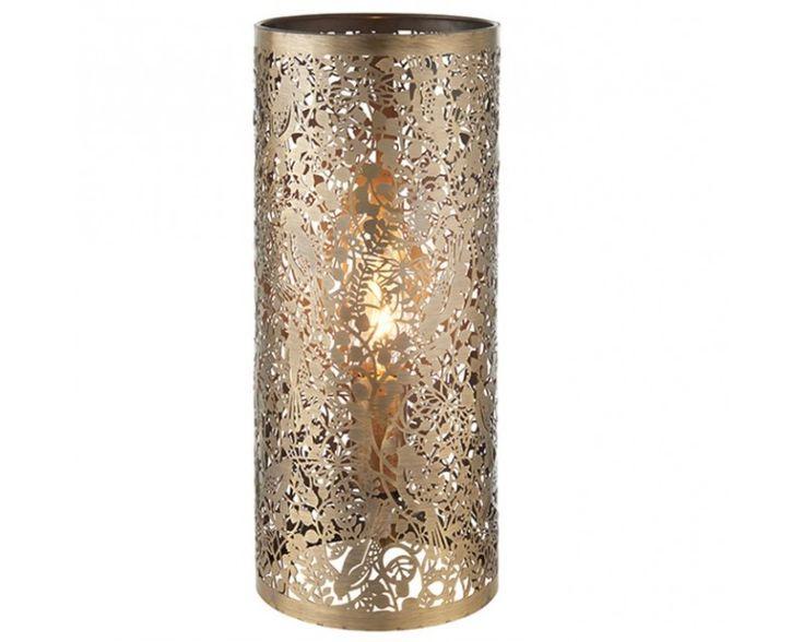 Endon 70102 Secret Garden E27 Table Lamp Antique Brass