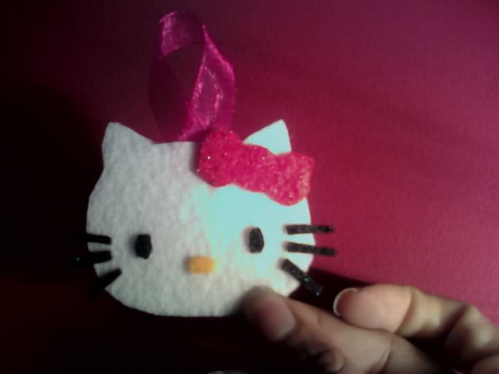 Felt Hello Kitty Christmas Ornaments:: Now Modified w/ Christmas Tree and Wreath - OCCASIONS AND HOLIDAYS