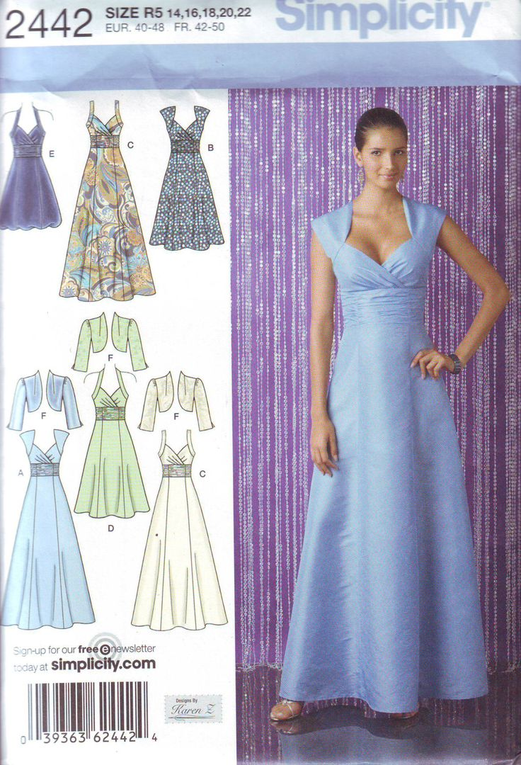 64 best Wedding dress patterns images on Pinterest | Sewing patterns ...