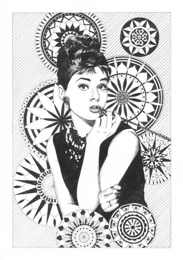 Daniella Sansum recreates an iconic image of Audrey Hepburn