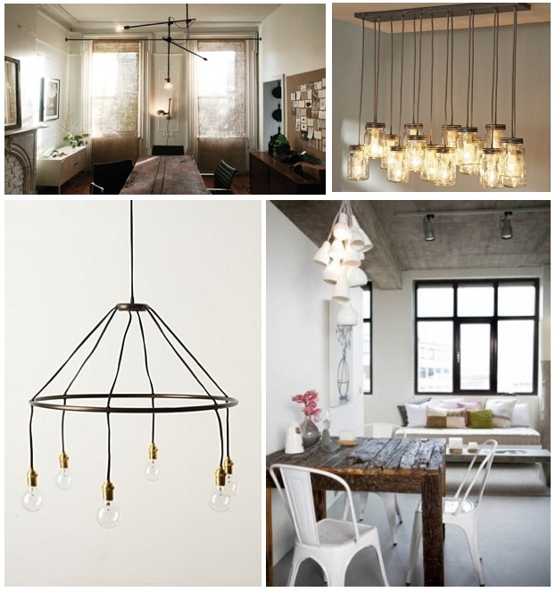 Interior Design Mashup: [Industrial Lighting} | Efrantz.
