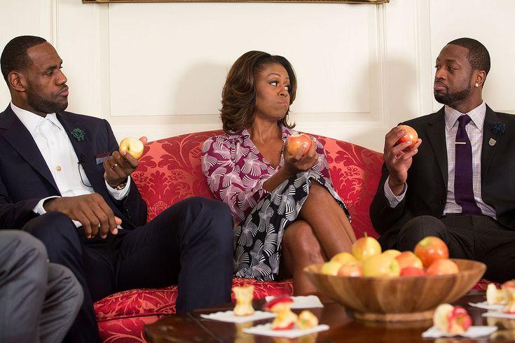 """First Lady Michelle Obama Bänder eine """"Gehen wir!"""" Öffentliche Ankündigung ..."""