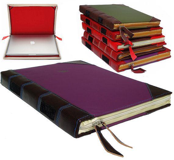 "15"" Macbook Pro Romeo&Juliet Book Case - Laptop Case - Leather Case with zipper - Macbook Pro 15 inch - Protective case - Macbook Pro sleeve..."