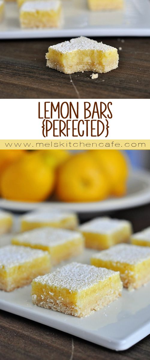 This tried-and-true recipe for lemon bars is perfect! So lemony and creamy and delicious.