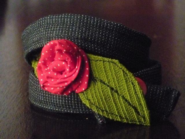 Wraparound rose bracelet