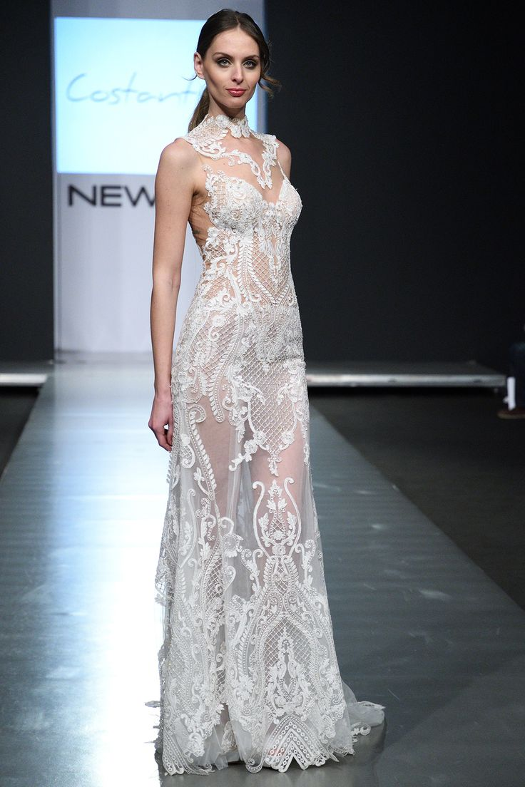 CHIARA #weddingdress #offwhite #mermaid #weddinggown with #Guipure #lace