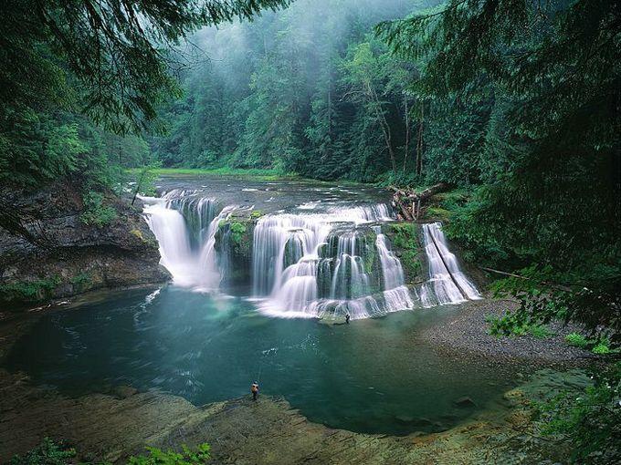 Lower Lewis River Falls - Gifford Pinchot National Forest - Washington, USA