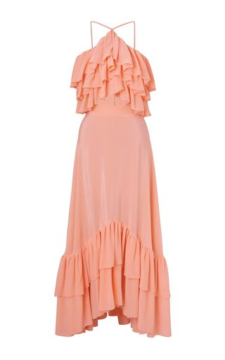 Kalmanovich - Ruffled Halter Maxi Dress