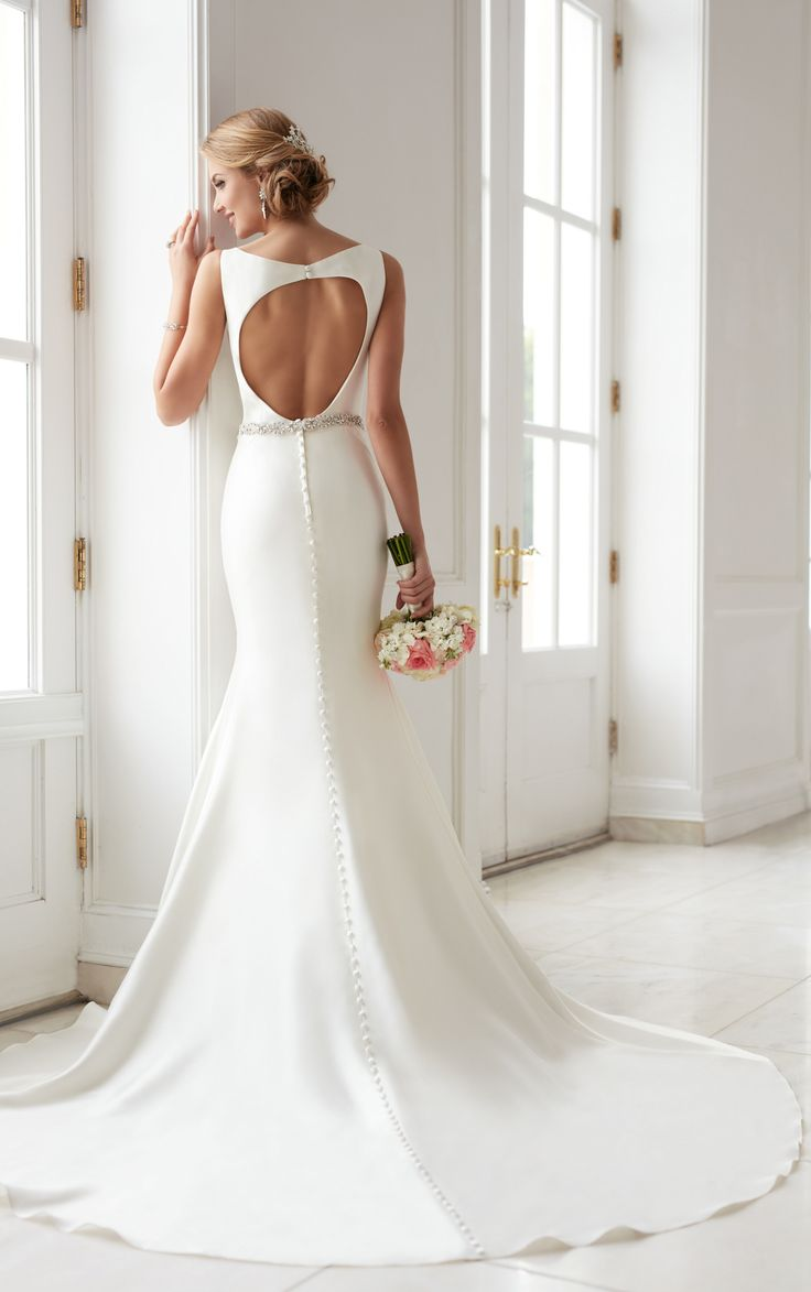 Best 25 structured wedding dresses ideas on pinterest wedding this modern keyhole back wedding dress by stella york features a structured fit and ombrellifo Choice Image
