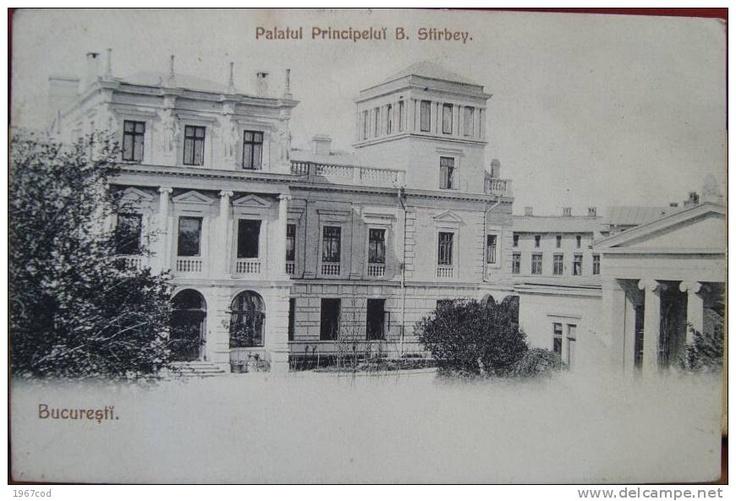 Bucuresti - Palatul Principelui Stirbey - antebelica
